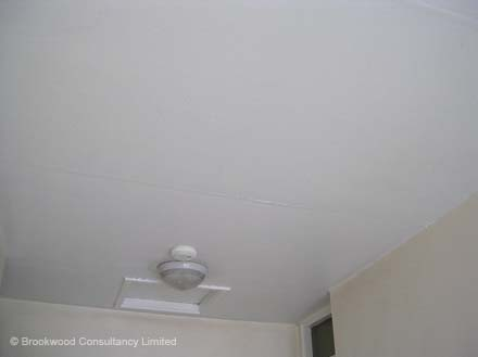 Asbestos Insulating Board Ceiling