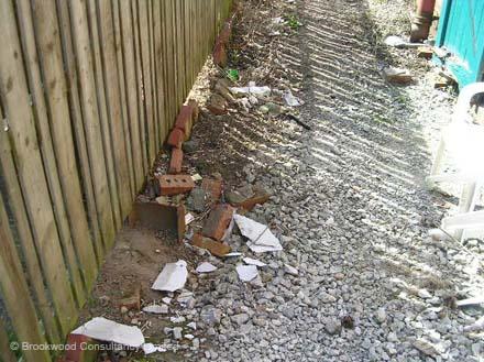 Asbestos Insulating Board Debris